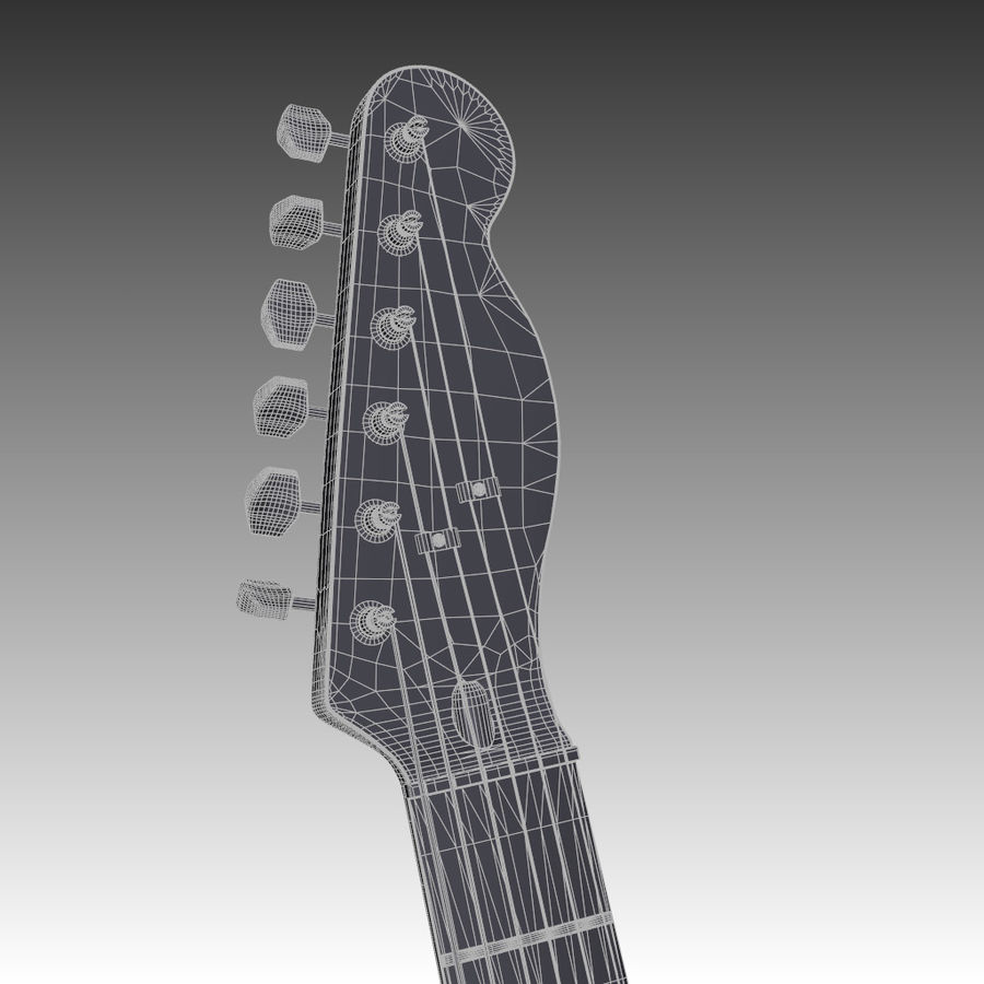 Telecaster Collection royalty-free 3d model - Preview no. 12