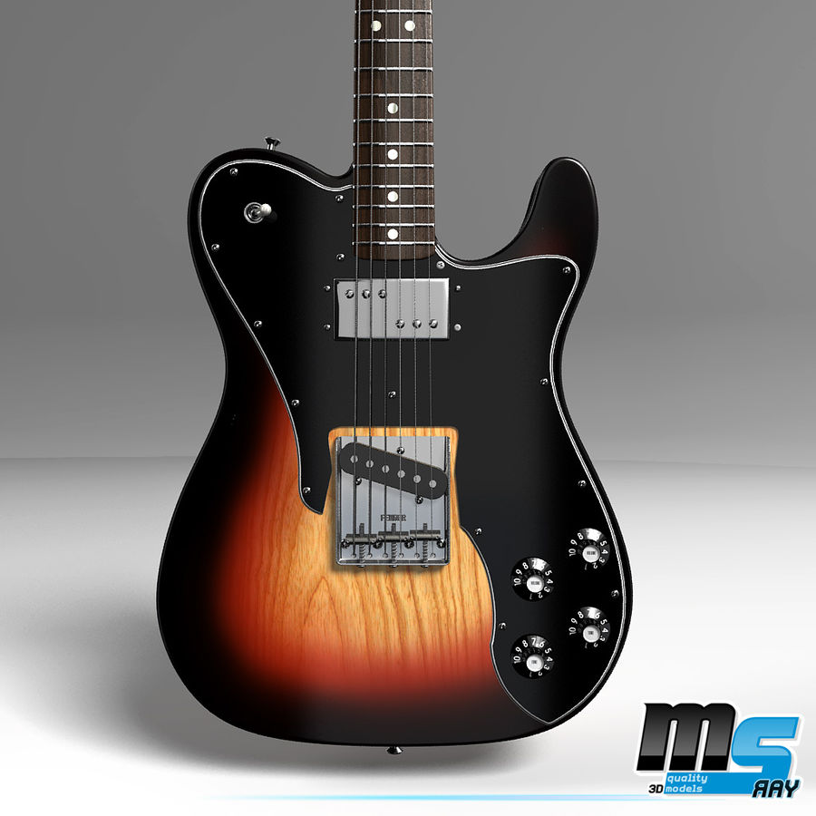 Telecaster Collection royalty-free 3d model - Preview no. 15