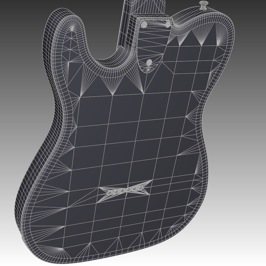 Telecaster Collection royalty-free 3d model - Preview no. 24