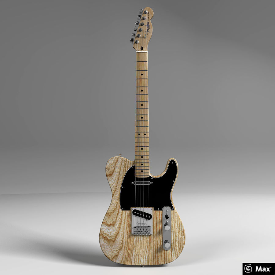 Telecaster Collection royalty-free 3d model - Preview no. 28