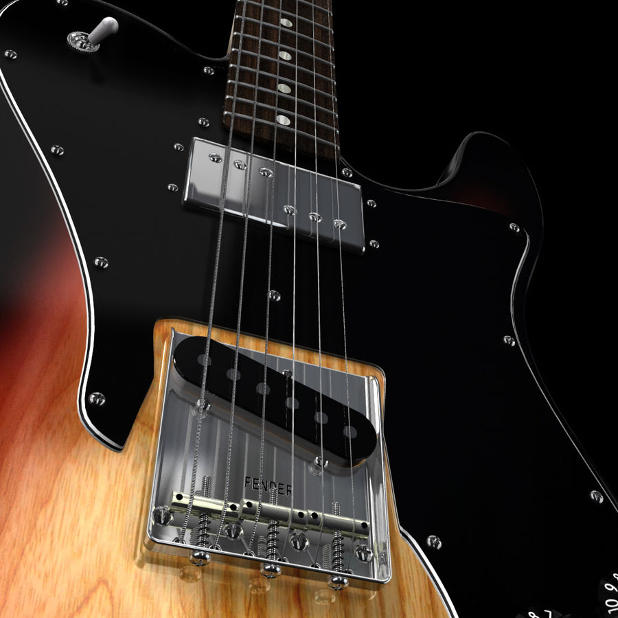 Telecaster Collection royalty-free 3d model - Preview no. 22