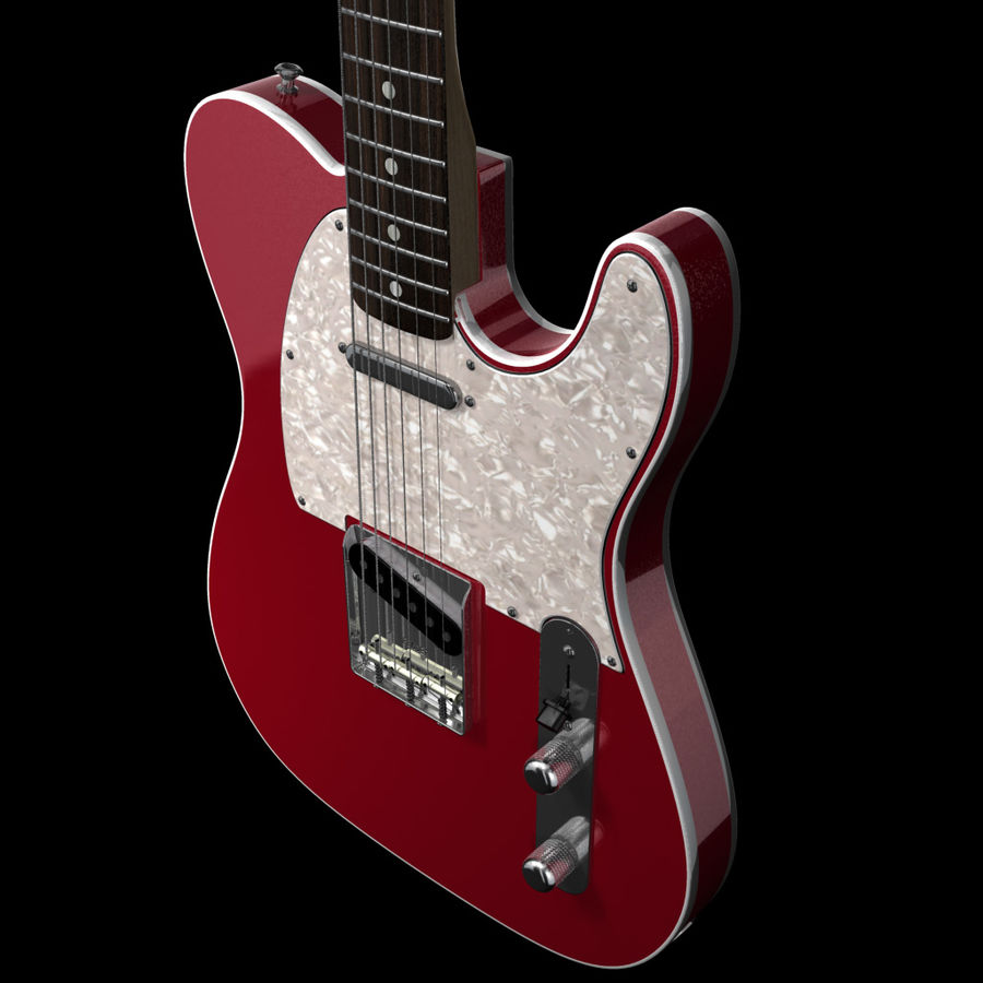 Telecaster Collection royalty-free 3d model - Preview no. 6