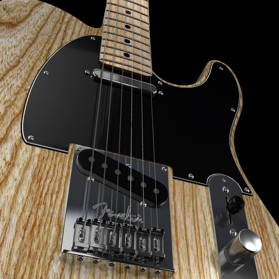 Telecaster Collection royalty-free 3d model - Preview no. 32