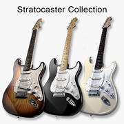 Stratocaster Collection 3d model