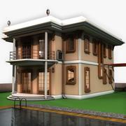 Moderne Villa mit Innenraum 3d model
