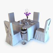 Mesa de banquete modelo 3d