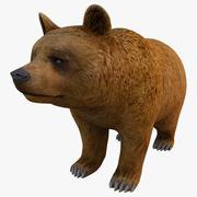 Brązowy niedźwiedź 3d model