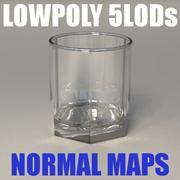 Стекло Wide (lowpoly, 5 LOD) 3d model