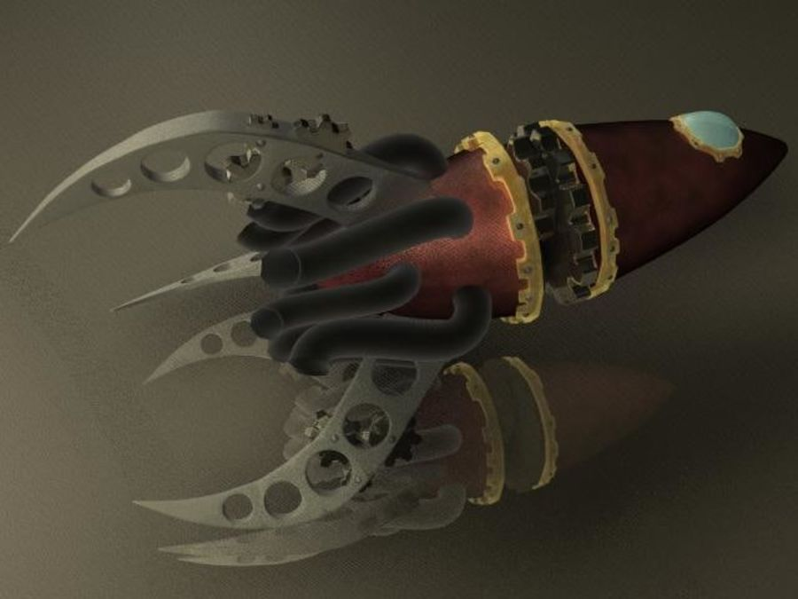 Space Rocket royalty-free 3d model - Preview no. 5