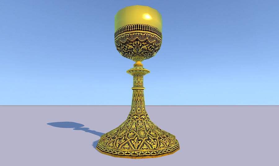 Lowpoly 성배 royalty-free 3d model - Preview no. 7