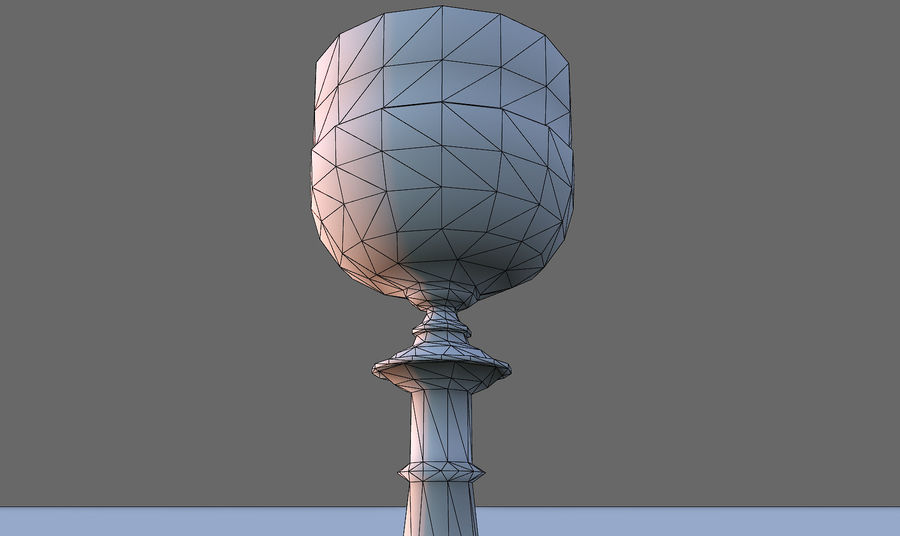 Lowpoly 성배 royalty-free 3d model - Preview no. 8