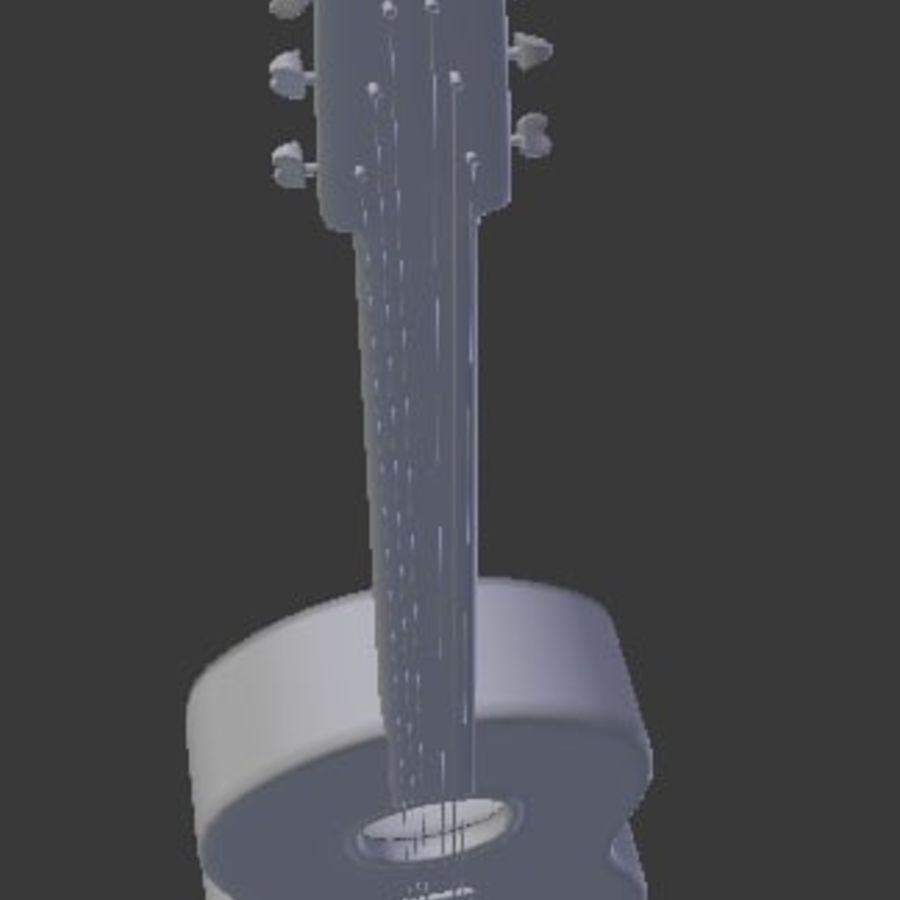 Guitarra española royalty-free 3d model - Preview no. 3