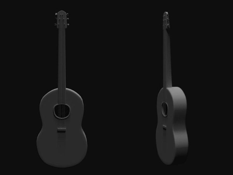 Guitarra española royalty-free 3d model - Preview no. 1