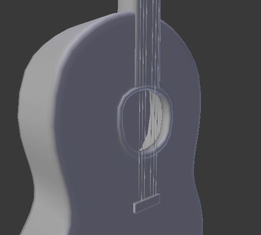 Guitarra española royalty-free 3d model - Preview no. 4