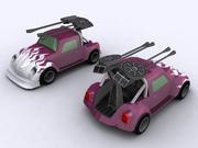 Низкополигональный автомобиль Beetle 3d model