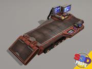 Sci-fi Repair Table 3d model