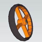 bike wheel front 3d model