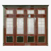 Classic wood door 3d model