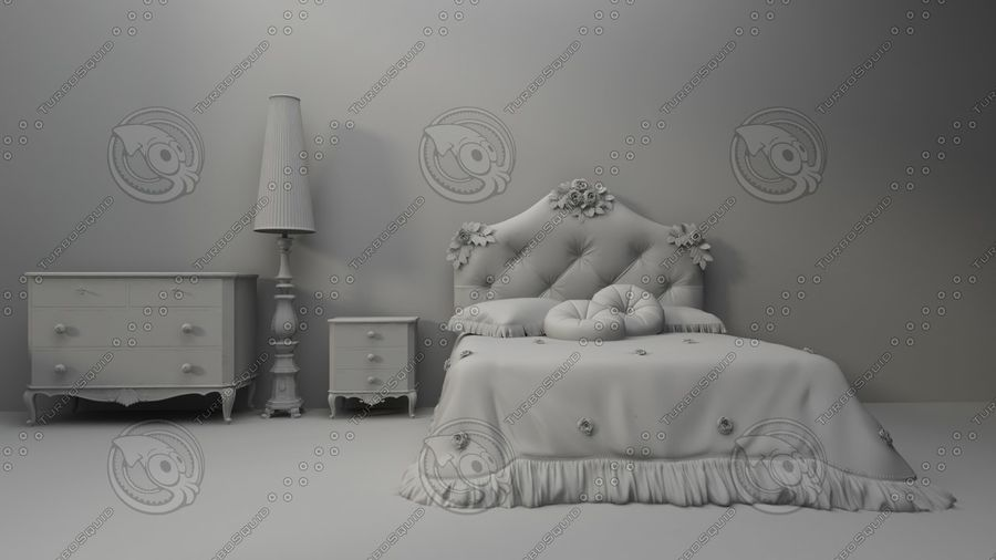 разная мебель royalty-free 3d model - Preview no. 1