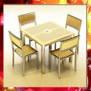 Tavolo da bar esterno e sedia 3d model