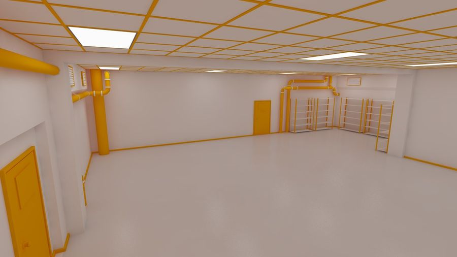 Facility interior royalty-free 3d model - Preview no. 3