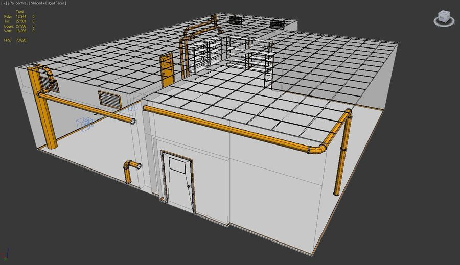 Facility interior royalty-free 3d model - Preview no. 4