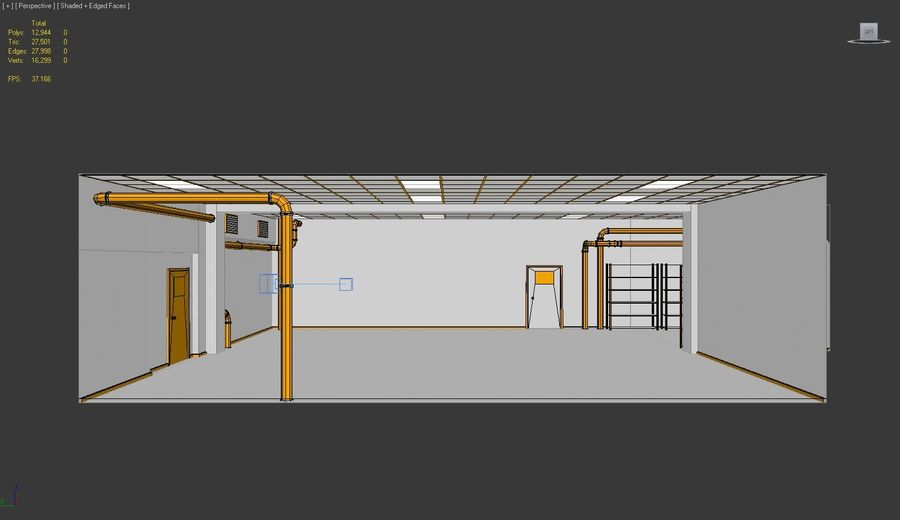 Facility interior royalty-free 3d model - Preview no. 7