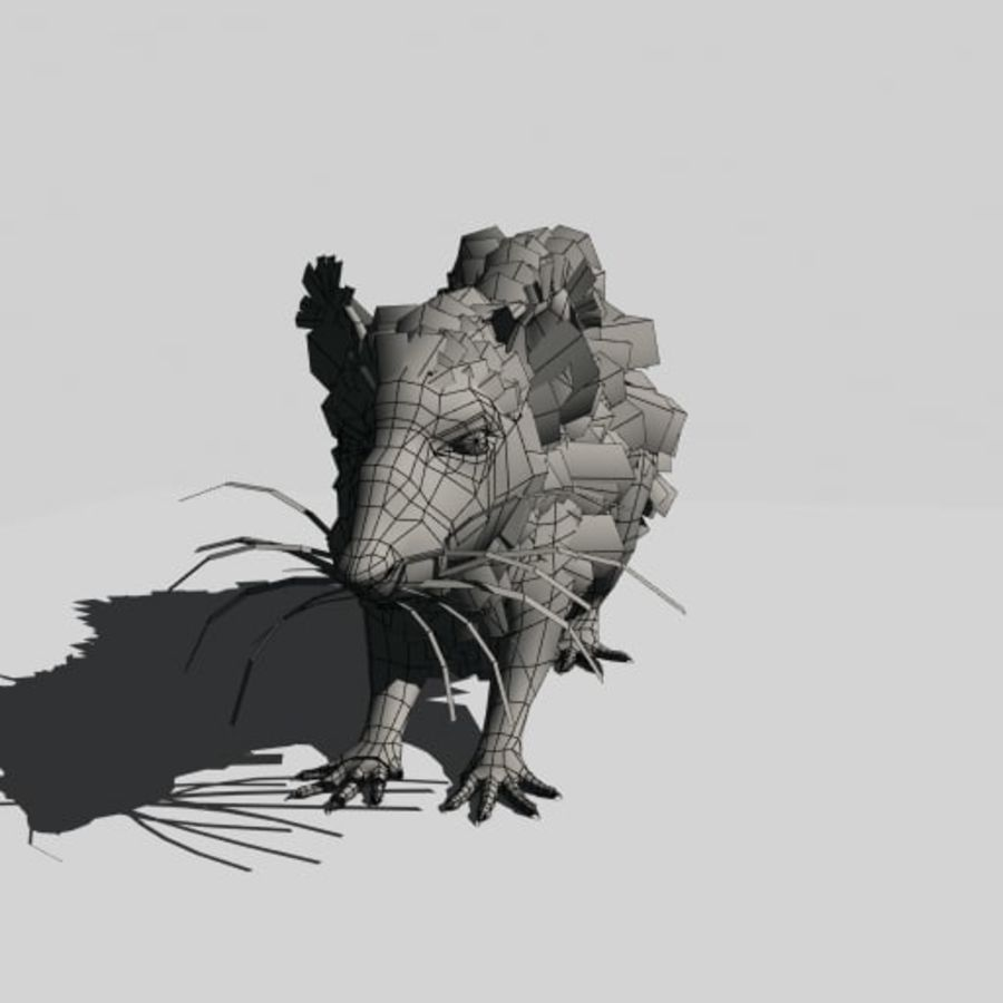 Råtta royalty-free 3d model - Preview no. 9