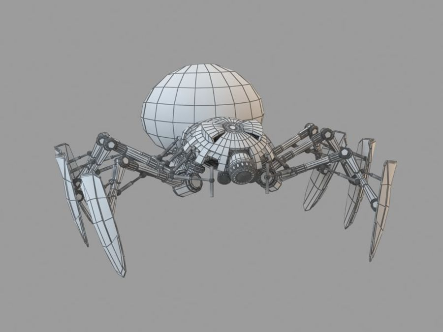 Spider royalty-free 3d model - Preview no. 3