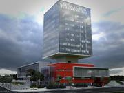 Architektur LH Strukturgebäude 3d model