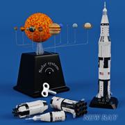 新しいレイロケット 3d model