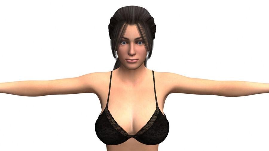 София сексуальная женщина royalty-free 3d model - Preview no. 2