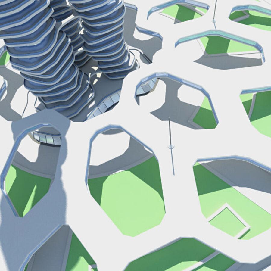 Futuristic Architecture royalty-free 3d model - Preview no. 2
