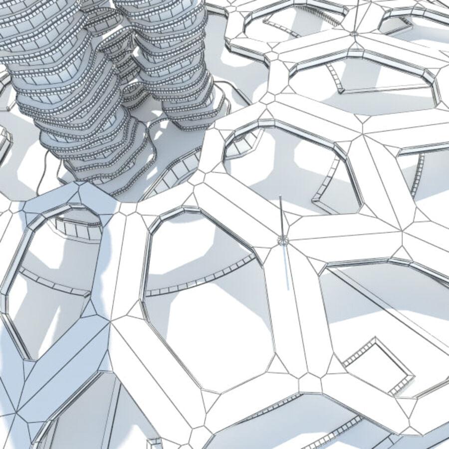 Futuristic Architecture royalty-free 3d model - Preview no. 9