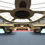 USS Enter prise 1701-D Bridge 3d model