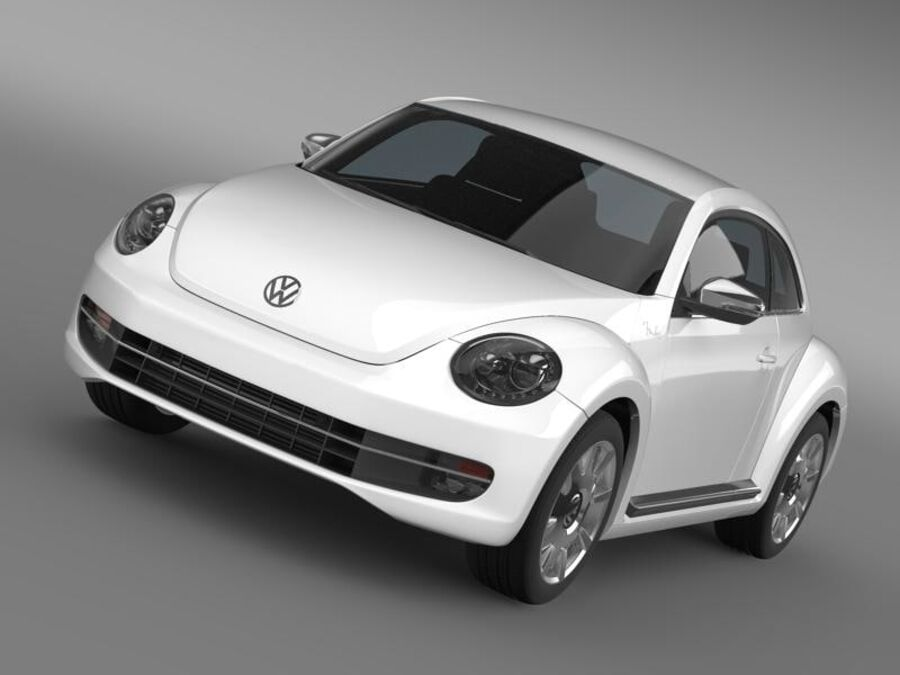 VW Beetle Fender Edition 2012 royalty-free 3d model - Preview no. 13