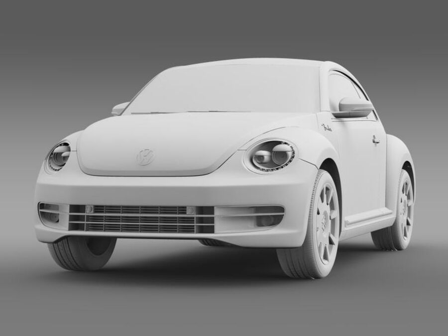 VW Beetle Fender Edition 2012 royalty-free 3d model - Preview no. 16