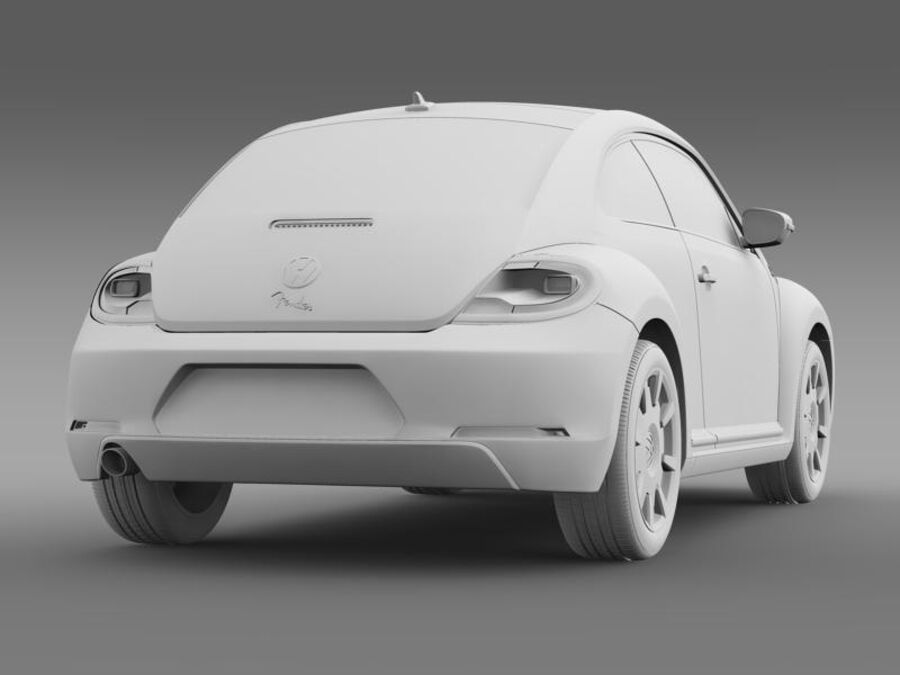 VW Beetle Fender Edition 2012 royalty-free 3d model - Preview no. 17