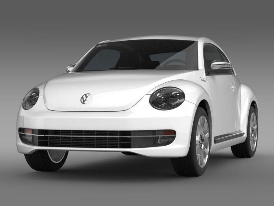 VW Beetle Fender Edition 2012 royalty-free 3d model - Preview no. 1