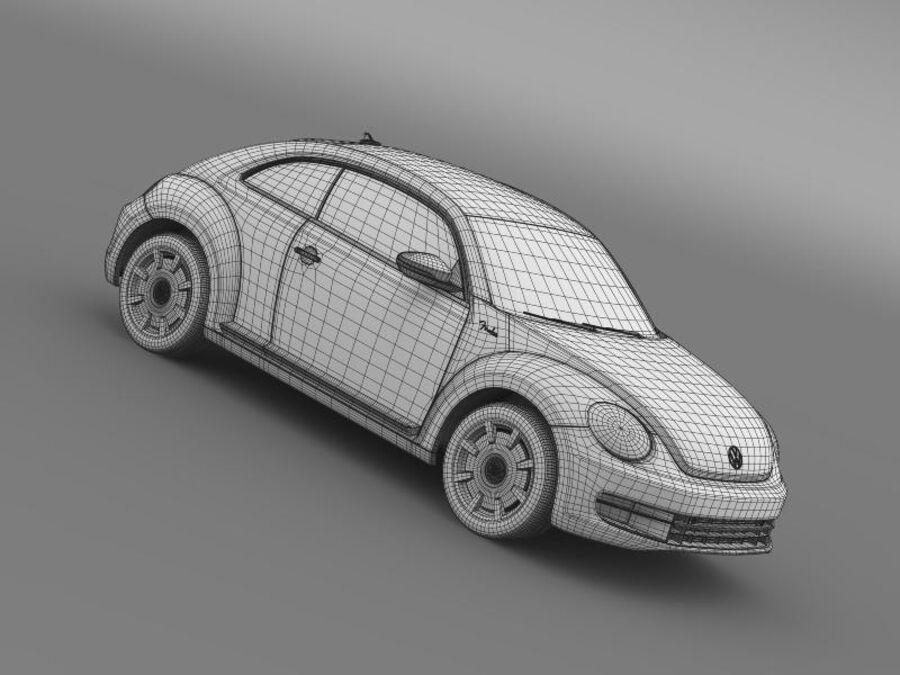 VW Beetle Fender Edition 2012 royalty-free 3d model - Preview no. 24