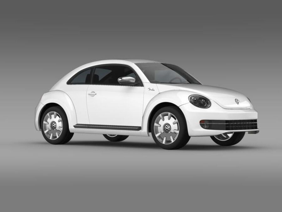VW Beetle Fender Edition 2012 royalty-free 3d model - Preview no. 11