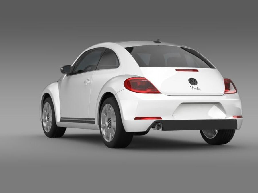 VW Beetle Fender Edition 2012 royalty-free 3d model - Preview no. 6