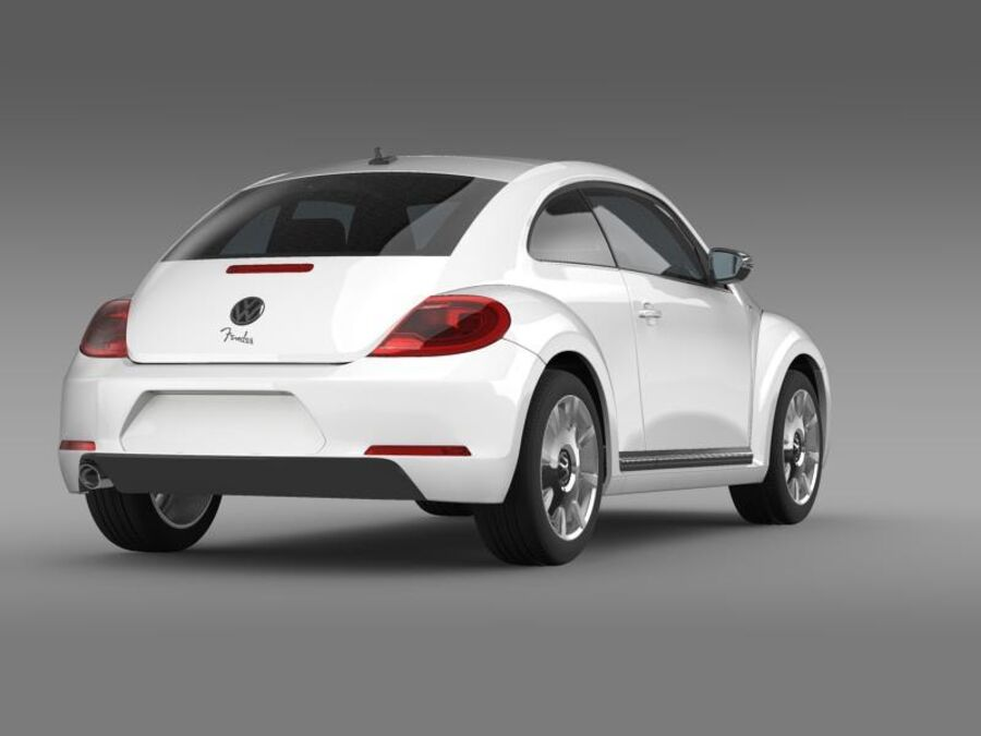 VW Beetle Fender Edition 2012 royalty-free 3d model - Preview no. 8