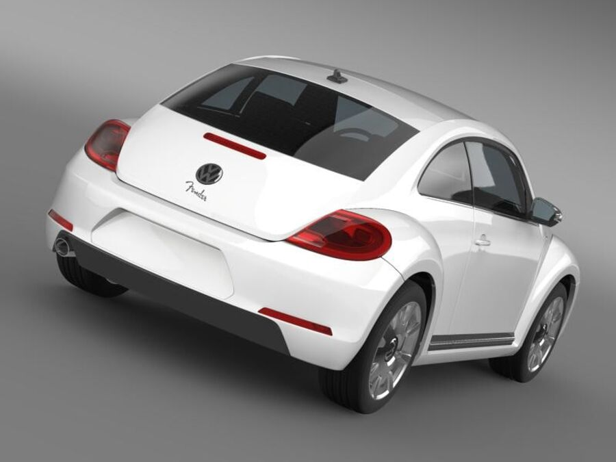VW Beetle Fender Edition 2012 royalty-free 3d model - Preview no. 14
