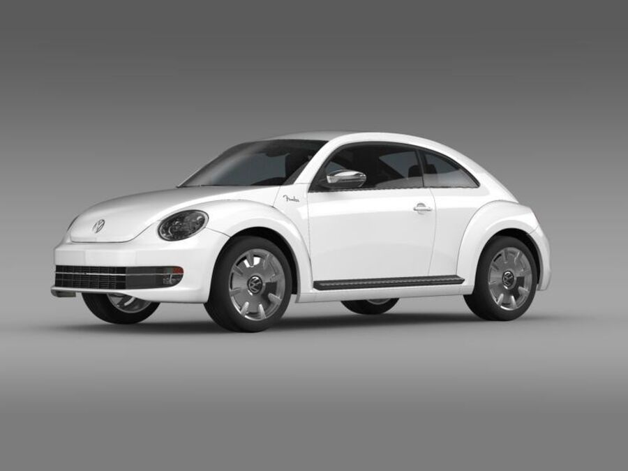 VW Beetle Fender Edition 2012 royalty-free 3d model - Preview no. 3