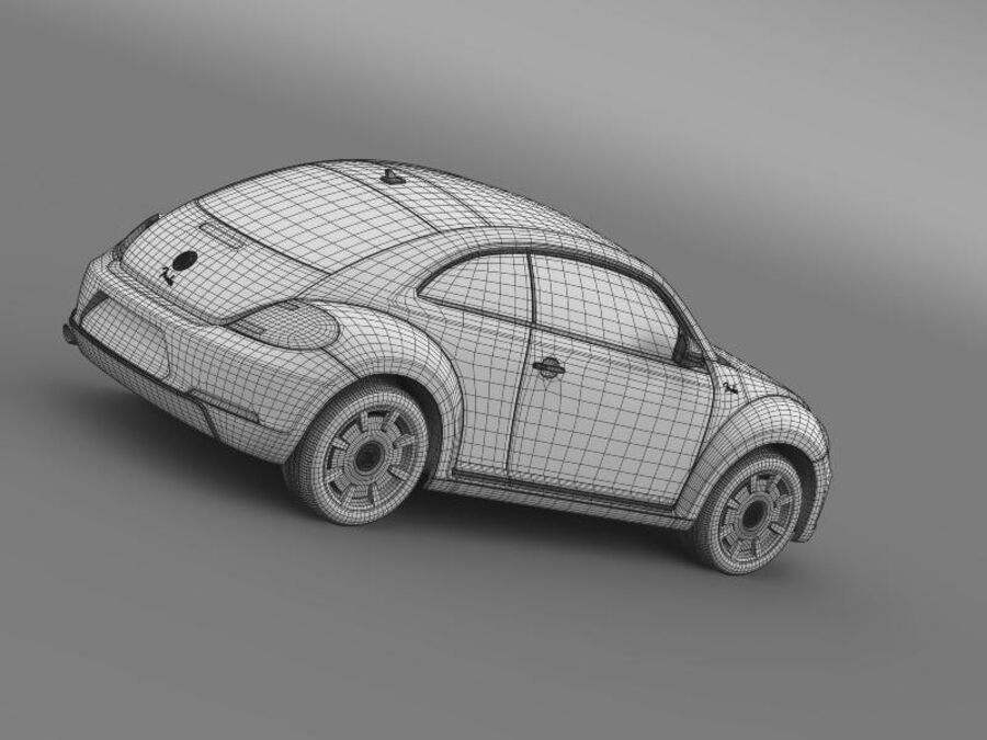 VW Beetle Fender Edition 2012 royalty-free 3d model - Preview no. 22