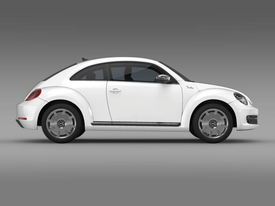 VW Beetle Fender Edition 2012 royalty-free 3d model - Preview no. 10