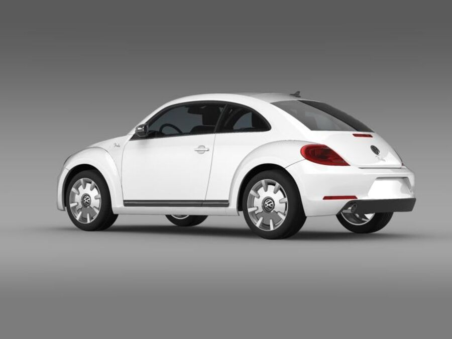 VW Beetle Fender Edition 2012 royalty-free 3d model - Preview no. 5