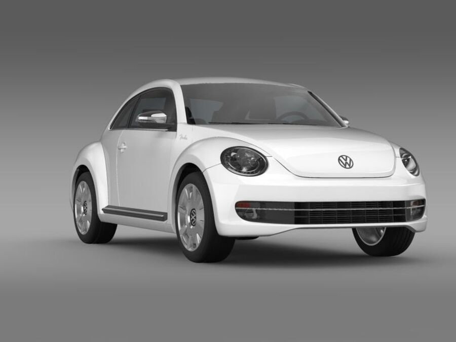 VW Beetle Fender Edition 2012 royalty-free 3d model - Preview no. 12