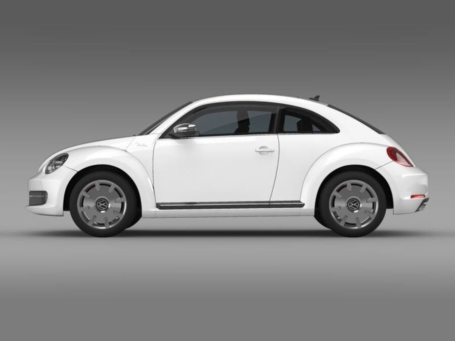VW Beetle Fender Edition 2012 royalty-free 3d model - Preview no. 4